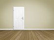 Empty Room / Wooden Floor with Door