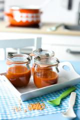 Tomatensuppe mit Linsen