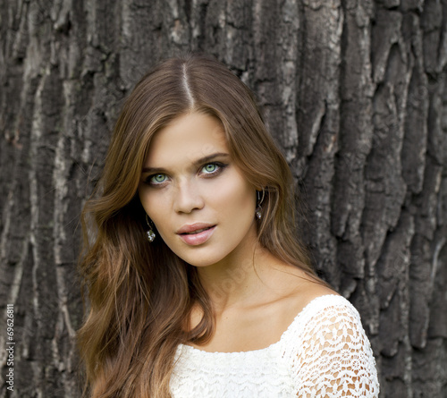 canvas print picture Young beautiful woman