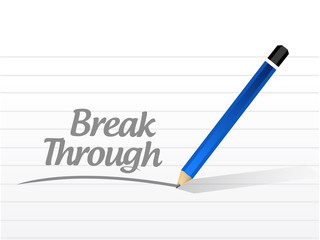 break through message illustration design