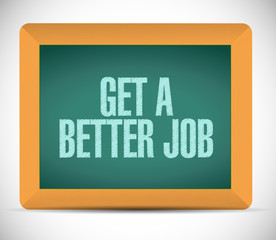 get a better job message illustration design