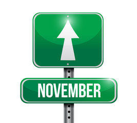 november sign illustration design