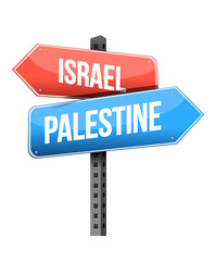 israel, palestine sign illustration design