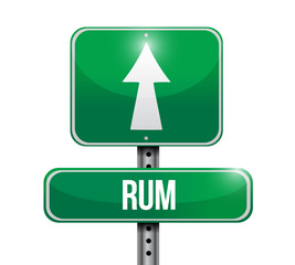 rum sign illustration design