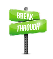 break through sign illustration design