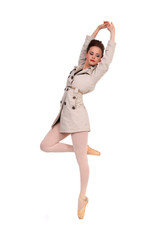 Ballerina with jacket,pointe