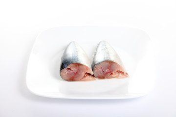 Sardines fish on dish