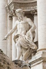 Neptune of Trevi Fountain (Fontana di Trevi) in Rome
