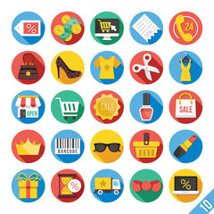 Modern Vector Flat Icons Set 10