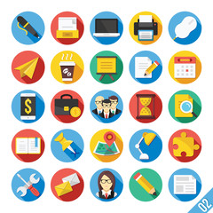 Modern Vector Flat Icons Set 2