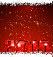 2015 new year red background.
