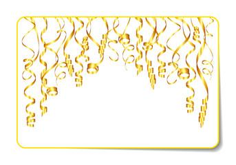 Gift Card Streamer Gold