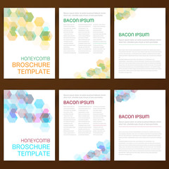 Abstract vector modern flyer broschure
