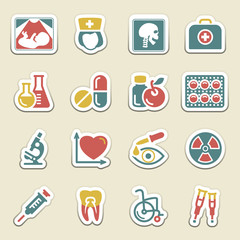 Medicine color icons.