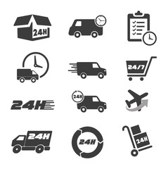 Various postage and support related icon set