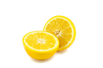 Orange fruit  white background