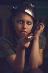 Teen girl smoker