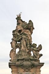 Beautiful outdoor sculpture in Prague