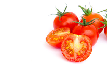Fresh Tomato on white background