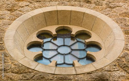 canvas print picture Rundes Kirchenfenster moderner Stil.