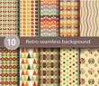 10 retro seamless background