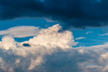 Wolken Spektakel im Sommer