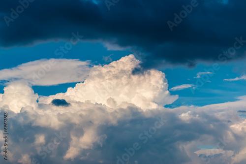 canvas print picture Wolken Spektakel im Sommer