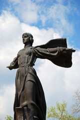 Legendary Princess Lybed, monument to the founders of Kiev