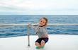 Leinwanddruck Bild - kind auf dem schiff