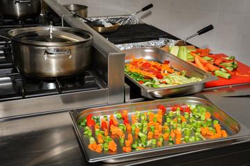 real restaurant kitchen