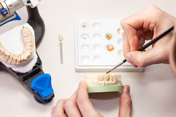 Making Artificial Human Dental Process.