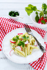 spring pasta with radishes