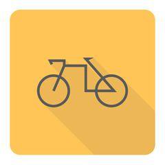 Bicycle icon. Vector Illustration.
