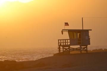 Venice Beach Lifeguard Station at Sunset