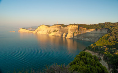 View of Canal d'amour from Cape Drastis. Sidari, Corfu, Greece