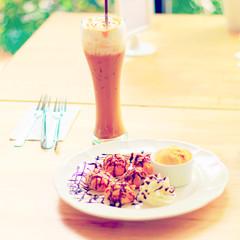 Ice coffee caramel - instagram filter