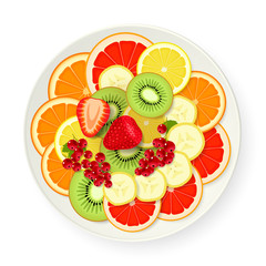 Assorted fruits on platter
