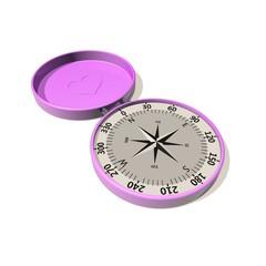roze dames kompas