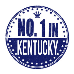 Number one in Kentucky stamp