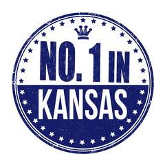 Number one in Kansas stamp