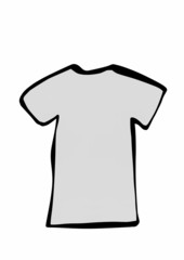 doodle blank T-shirt