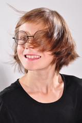 child with eyeglasses