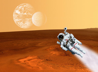 Astronaut Mars Landscape