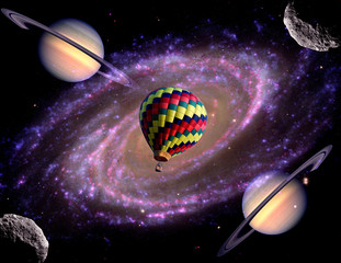 Surreal Balloon Galaxy Space