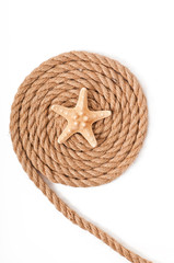 starfish and ship ropes