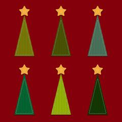 Vector Christmas Trees