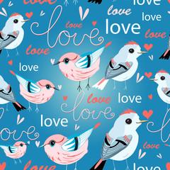 pattern of birds lovers