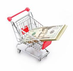 dollar in shopping cart
