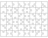Vector illustration of white puzzle 2 - 69639247