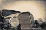 fragment of old car, vintage stylized